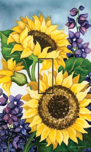 Sunflower Toggle - SwitchStix Sunflower Single Toggle Peel and Stick Switch Plate Cover Décor