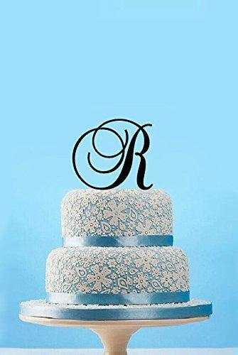 custom initial wedding cake toppers silhouette birthday cake topper letter r birthday gift for girls