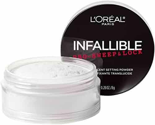 L'Oreal Paris Makeup Infallible Pro-Sweep & Lock Loose Matte Setting Face Powder, Translucent, 0.28 oz.