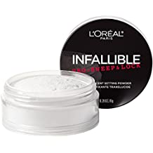 L'Oreal Paris Makeup Infallible Pro-Sweep & Lock Loose Matte Setting Face Powder, Translucent, 0.28 oz.