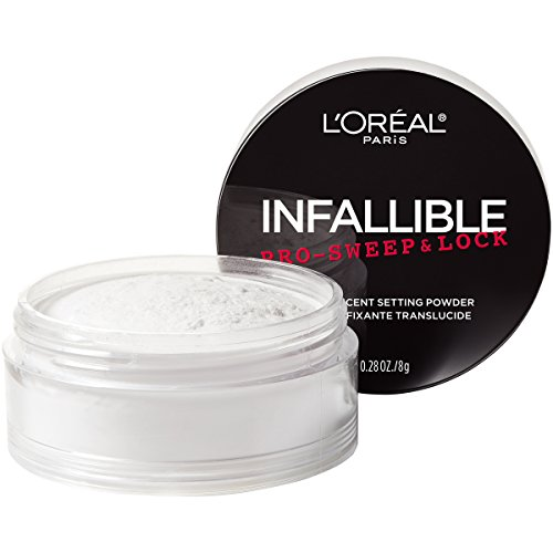 (L'Oreal Paris Makeup Infallible Pro-Sweep & Lock Loose Matte Setting Face Powder, Translucent, 0.28)