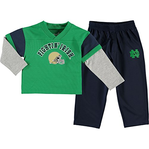 Fighting Irish Green Jersey - Notre Dame Fighting Irish Infant / Little Boys Charger Pant Football Sweat Set - Green (Little Boy's - 7)