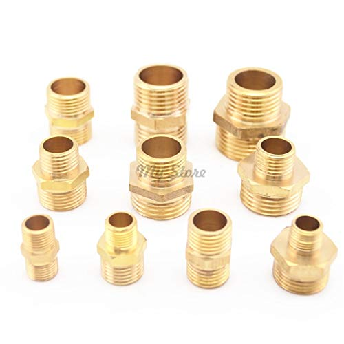(1/8'' 1/4'' 3/8'' 1/2'' Male BSP Thread Brass Barbed Fitting Coupler Connector 03 to 03)
