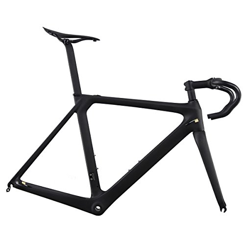 ICAN Aero 700c Carbon Road Bike Frameset with Handlebar Stem Seatpost and Saddle 50/52/54/56/58cm