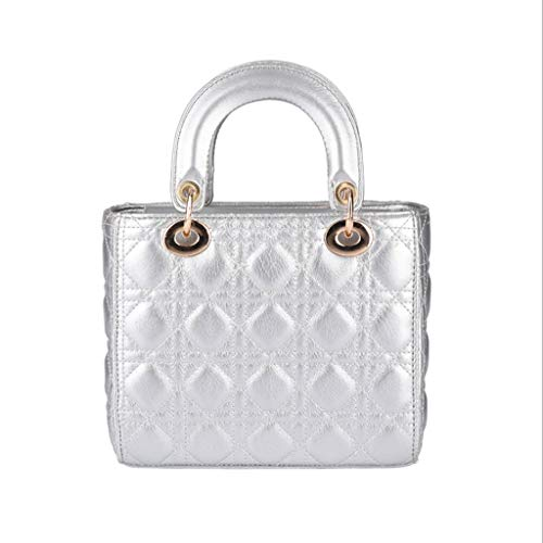 Fashion Tote 5 Lingge 18 Bag 5 9cm Crossbody à bandoulière 20 Couleurs Sac PU Sac Femmes Silver Couleur 5qRpx1wtA