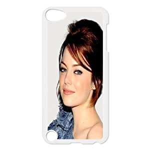 iPod Touch 5 Case White Beautiful Emma Stone LSO7896713