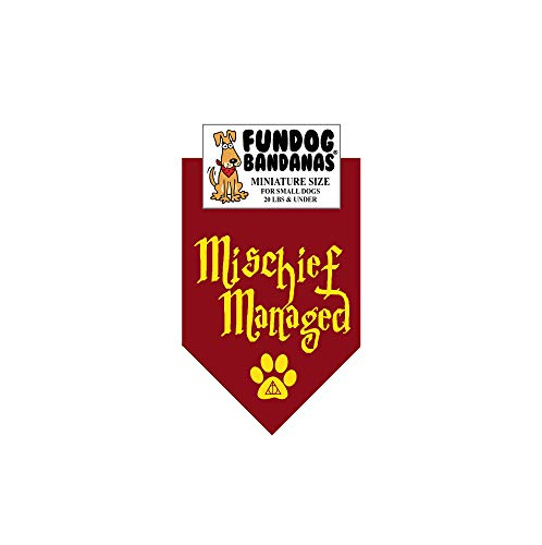 Mischief Managed Dog Bandana (Miniature Size for Small Dogs) -