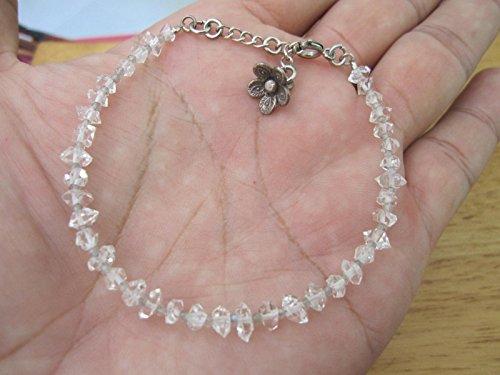 - Herkimer Diamond Bracelet, April Birthstone,Gemstone Bracelet, Handmade Bracelet,Labradorite bracelet,Delicate Bracelet, Diamond Quartz Bracelet - Size 6.5,7,7.5,8 - Custom size