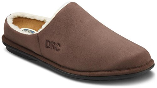 Dr. Comfort Hombres Easy Chocolate Diabetic Slippers Chocolate