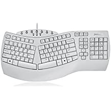 "Perixx PERIBOARD-512 Ergonomic Split Keyboard - Natural Ergonomic Design - White - Bulky Size 19.09""x9.29""x1.73"""