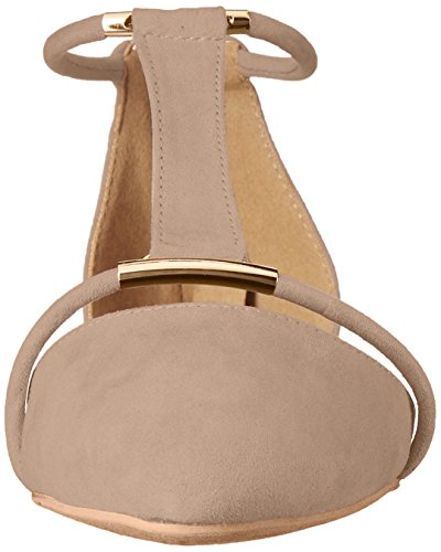 Qupid Womens Swift-133 Spitse Neus Platte Taupe