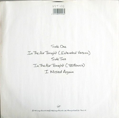 PHIL COLLINS In The Air Tonight 88 Remix & Extended Version 12