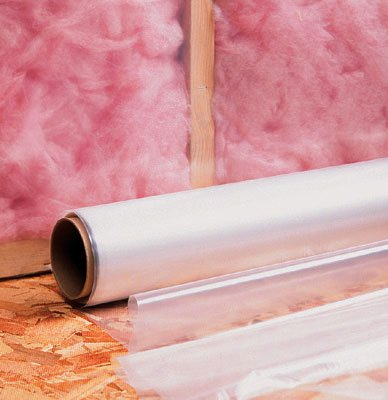 6' x 100' Low Density Poly Construction Film - Clear (4.5 mil) (1 Roll) - AB-18-8-13C by Miller Supply Inc