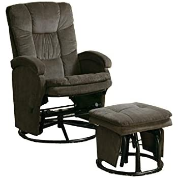 Coaster Recliner with Ottoman Reclining Glider in Chocolate Chenile  sc 1 st  Amazon.com & Amazon.com: Coaster Recliner with Ottoman Reclining Glider in ... islam-shia.org