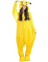 I'MQueen Womens Pikachu Onesie Adult Pajamas Cartoon Cosplay Costume Homewear