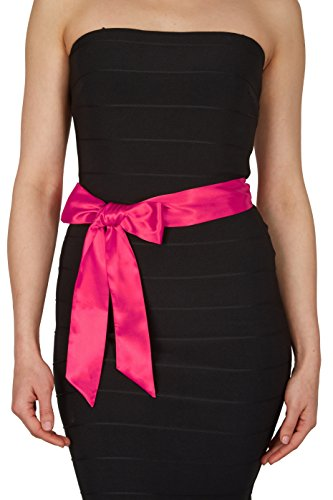 hot pink and black bridesmaids dresses - 9