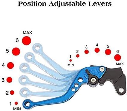 Moto Dembrayage et Levier de Frein CNC Reglable pour Moto Sport GS500E//F 1989-2009 GS500 E K1 K2//K3 2001-2013 GS500 E K4 K5 K6 K7 K8 2004-2008 GS500 F K4 K5 K6 K7 K8 K9 2003-2009