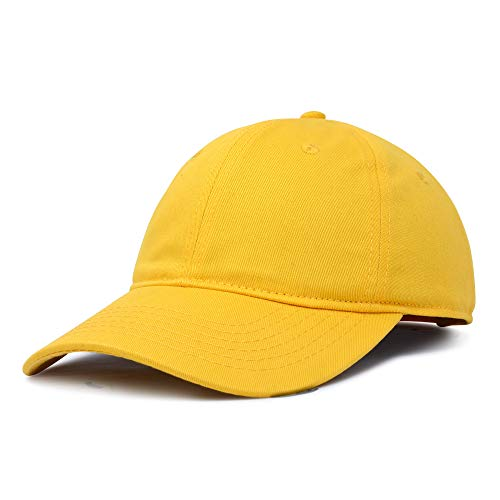 DALIX Womens Hat Lightweight 100% Cotton Cap in Yellow