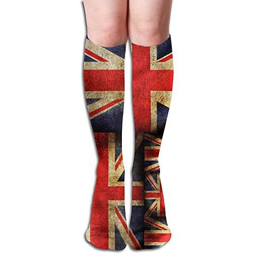 Boot Jack Store (Mens Women's Union Jack Flag Boots Socks Compression Novelty Non Slip Socks Over The Calf Tube 50CM)