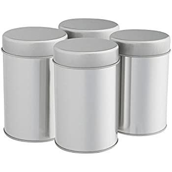 Tea Tins Canister Set with Airtight Double Lids for Loose Tea - Small Kitchen Canisters for  sc 1 st  Amazon.com & Amazon.com: Tea Tins Canister Set with Airtight Double Lids for ...