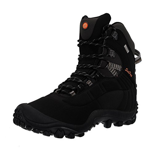 - Manfen Men's Mid-Rise Hiking Boots Lightweight Waterproof Hunting Boots, Ankle Support, High-Traction Grip Black