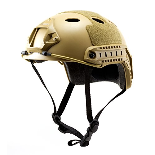 - Tactical Crusader Lightweight Tactical Helmet, Tan, Fully Adjustable