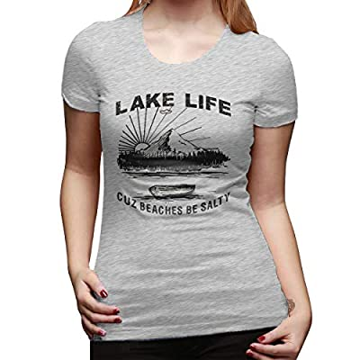 Lake Life T Shirt Women Funny Saying Graphic Tee Vacation Loose Casual Short Sleeve Shirts Tops