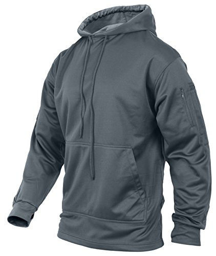 Rothco Concealed Carry Hoodie, Gun Metal Gray, X-Large