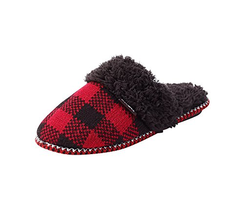 Muk Luks Dames Fair Isle Knit Pantoffel Rode Buffel
