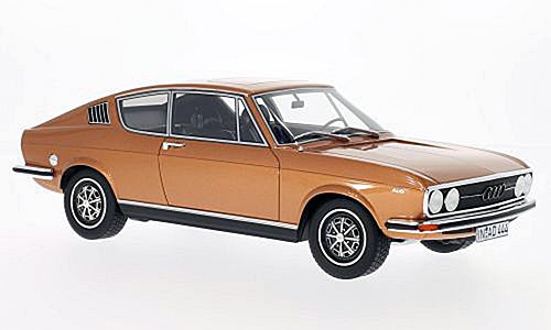 Audi 100 Coupe S, copper, limited Edition 1.000 Piece , 1970, Model Car, Ready-made, BoS-ModelS 1:18