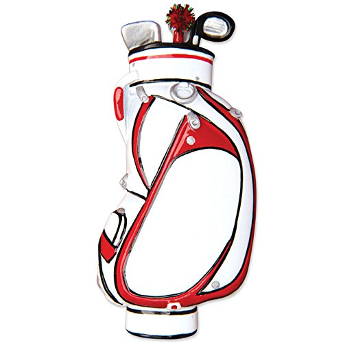 PERSONALIZED CHRISTMAS ORNAMENTS SPORTS- GOLF BAG