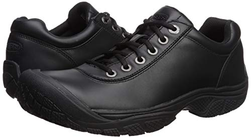 KEEN Utility Men's PTC Dress Oxford Work Shoe,Black,9.5 M US