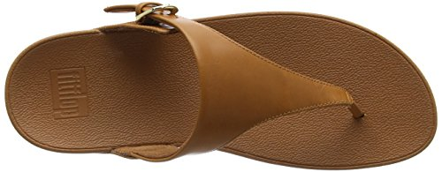 Toe Fitflop 098 Thong Skinny Punta Aperta Donna Leather Caramel Marrone Sandals Sandali qqrPx5