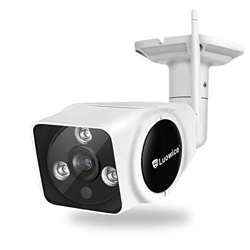 Luowice Wireless Security Camera Outdoor 1080P WiFi IP Camera with Intercom Function HD Surveillance Camera 100ft Night Vision and Built-in 64G Micro SD Card IP66 Waterproof