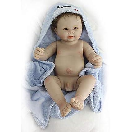 Nicery Reborn Babypuppe Weich Silikon Vinyl für Jungen und Mädchen Geburtstagsgeschenk 48-50cm Dolls gx50z-1ode