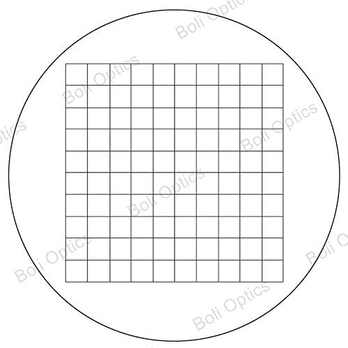 Field of View 12mm High Eyepoint Net Grid BoliOptics WF 20X Widefield Microscope Eyepiece with Reticle One Mounting Size 30mm SZ05013633