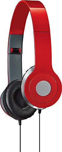 iLive iAH54R Over-the-Ear DJ Headphones, Red