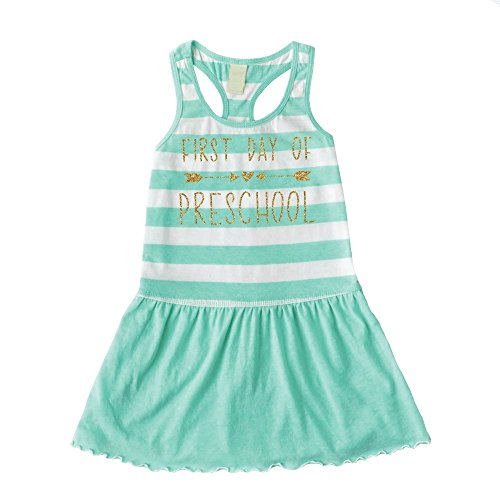 Bump and Beyond Designs 1st Day of Preschool Dress, Back to School Outfit for Girls (6) Green]()