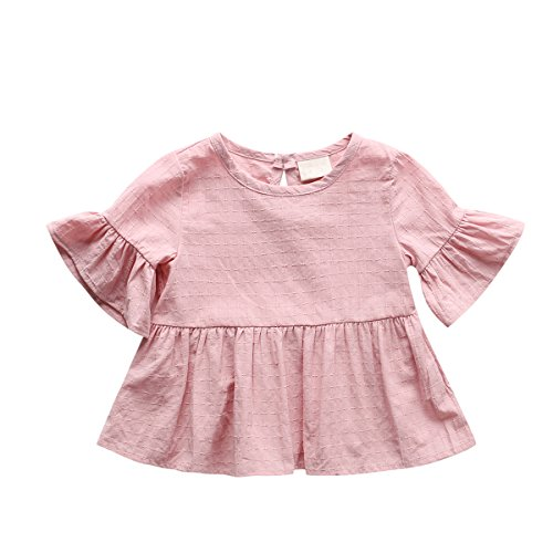 Baby Girl Dress, Lotus Leaf Style Toddler Dress / Dance Skirt for 1-4 Years,Pink,98(24-36 Month) (Crazy 8 Halloween 2017)