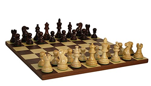 American Emperor Dark Rosewood Board Chess Set Chess Set Inlaid Wood Frame