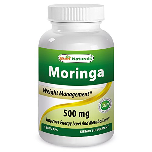 Moringa 500 mg 180 Vcaps by Best Naturals featuring Pure Organic Moringa Oleifera leaf Capsule - Manufactured in a USA Based GMP Certified Facility and Third Party Tested for Purity. Guaranteed