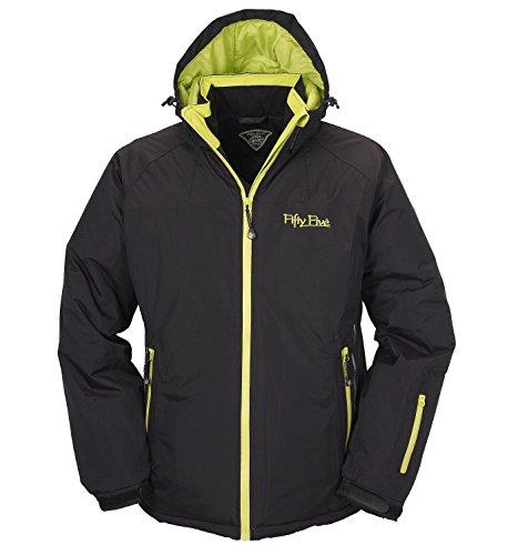 Ski-Jacke Snowboard-Jacken für Herren von Fifty Five - Jamie black/lime 2XL - winddicht und wasserdicht mit FIVE-TEX Membrane für Outdoor-Bekleidung
