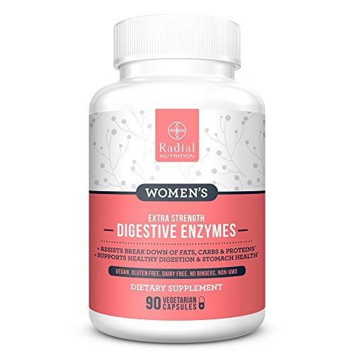 Women's Digestive Enzymes - Vegan Vegetarian Supplement with Probiotics Protease Bromelain & Natural Gut Enzymes for Women - All Natural IBS Relief, Leaky Gut Repair - Stop Bloating Fast