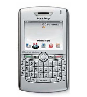 Blackberry 8830 World Edition Mobile Phone - Silver Key Pieces