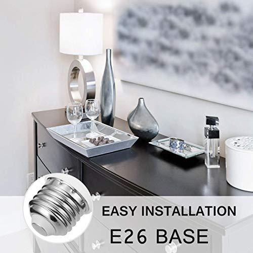 LOHAS A15 Light Bulb, LED 40WattEquivalent 120v Bulbs, Daylight 5000K LED Lights, E26 Medium Base, Small for RefrigeratorBulb,Home Bulb Ceiling Fans Bedroom Kitchen Lighting, Not-Dim,6 Pack