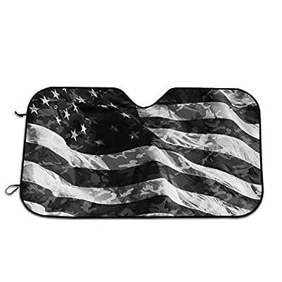 Camo American Flag Windshield Sun Shade -Luxurious Sunshield for Maximum UV and Sun Protection -Foldable Sunshade for Car Windshield Will Keep Your Car Cooler-Windshield Sunshades: Garden & Outdoor