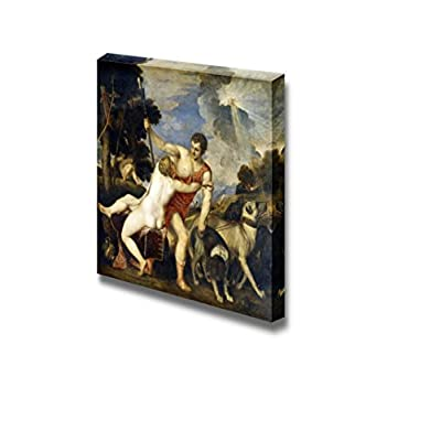 Created By a Professional Artist, Beautiful Piece of Art, Venus and Adonis by Titian Print Famous Painting Reproduction
