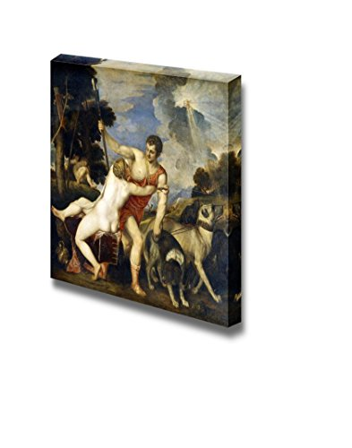 wall26 - Venus and Adonis by Titian - Canvas Print Wall Art Famous Painting Reproduction - 12