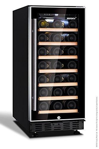 HUS-ZY1-S-NS-31 Husky 31 Bottle Single Zone Wine Cooler