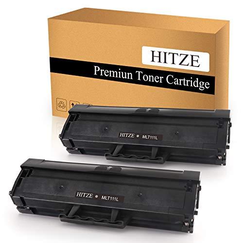HITZE Compatible Toner Cartridge Replacement for Samsung MLT 111S 111L MLT-D111S MLT-D111L Xpress SL 2070W 2070FW M2020 MLT-2070FW M2020W 2022W 2022FW M2026 M2026W (Black, 2 Pack, High Yield) ()